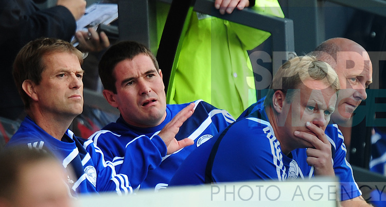 Nigel Clough manager of Derby County during the game