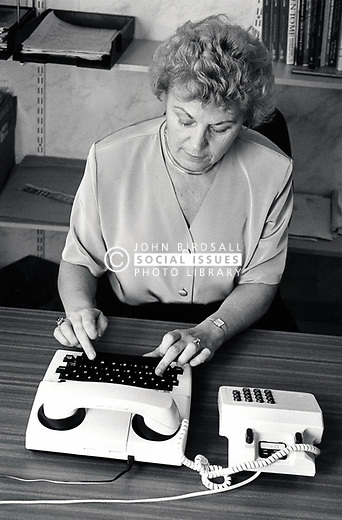 TTY - text telephone for deaf people, UK 1989