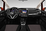 Stock photo of straight dashboard view of 2016 Honda Jazz Elegance 5 Door Hatchback Dashboard