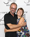 Gary Adler and Phoebe Kreutz backstage at the 'Avenue Q' 15th Anniversary Reunion Concert at Feinstein's/54 Below on July 30, 2018 in New York City.