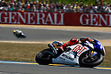 May 23, 2010 - Le Mans, France - Jorge Lorenzo powers his bike during the MotoGP race of the French Grand Prix at le Mans circuit, France, on May 23, 2010. (Photo Andrew Northcott/Nippon News).