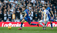 Bolton Wanderers' Craig Noone breaks away from  Leeds United's Mateusz Klich <br /> <br /> Photographer Andrew Kearns/CameraSport<br /> <br /> The EFL Sky Bet Championship - Leeds United v Bolton Wanderers - Saturday 23rd February 2019 - Elland Road - Leeds<br /> <br /> World Copyright © 2019 CameraSport. All rights reserved. 43 Linden Ave. Countesthorpe. Leicester. England. LE8 5PG - Tel: +44 (0) 116 277 4147 - admin@camerasport.com - www.camerasport.com