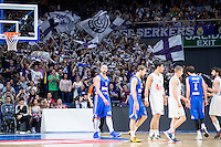 Real Madrid's crowds during Euroleague match at Barclaycard Center in Madrid. April 07, 2016. (ALTERPHOTOS/Borja B.Hojas) /NortePhoto