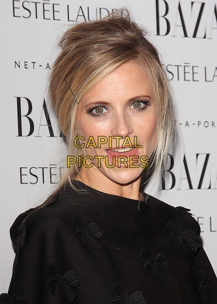 Laura Bailey.Harpers Bazaar Women of the Year Awards at Claridges Hotel, London, Englnd..November 7th 2011.headshot portrait black mouth open.CAP/ROS.©Steve Ross/Capital Pictures