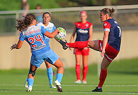 Boyds, MD - Saturday July 09, 2016: Danielle Colaprico, Christine Nairn during a regular season National Women's Soccer League (NWSL) match between the Washington Spirit and the Chicago Red Stars at Maureen Hendricks Field, Maryland SoccerPlex.