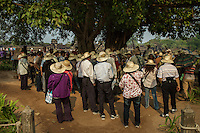 05/04/2013 - Angkor Wat (Cambodia). A group of Korean tourists visits the temple of Angkor. Over the years, orphanage visits have seemingly become part of the Cambodian travel experience, expecially for organized tours.© Thomas Cristofoletti 2013