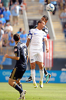 Ryan Smith (11) of the Kansas City Wizards. The Philadelphia Union and the Kansas City Wizards played to a 1-1 tie during a Major League Soccer (MLS) match at PPL Park in Chester, PA, on September 04, 2010.