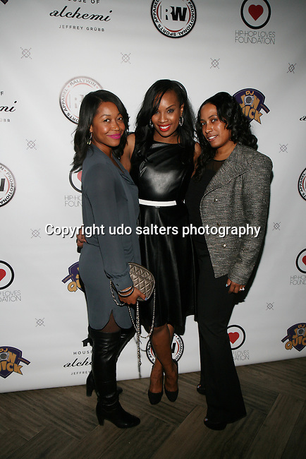 Angelica Green, Honoree Dana Whitefield and Auora at DJ Jon Quick's 5th Annual Beauty and the Beat: Heroines of Excellence Awards Honoring AMBRE ANDERSON, DR. MEENA SINGH,<br /> JESENIA COLLAZO, SHANELLE GABRIEL, <br /> KRYSTAL GARNER, RICHELLE CAREY,<br /> DANA WHITFIELD, SHAWN OUTLER,<br /> TAMEKIA FLOWERS Held at Suite 36, NY