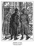 """Business as Usual. """"Confound you, merry gentlemen, will nothing you dismay?"""" (Christmas carol singers look inside the window of the Christmas Profiteering Club which has whiskey and petrol hanging from the Christmas tree)"""