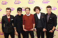 LOS ANGELES, CA - SEPTEMBER 06: One Direction at the 2012 MTV Video Music Awards at The Staples Center on September 6, 2012 in Los Angeles, California. © mpi28/MediaPunch inc. /NortePhoto.com<br />