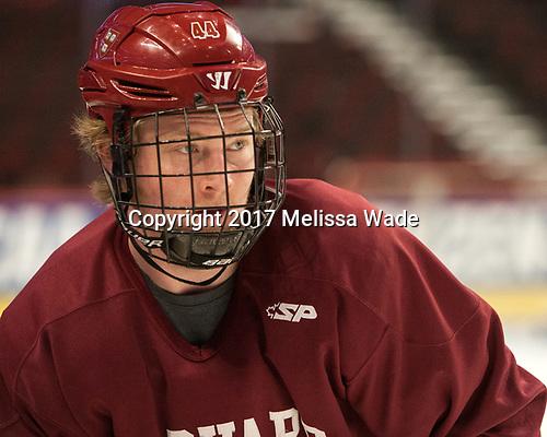 Michael Floodstrand (Harvard - 44) - The Harvard University Crimson practiced at the United Center on Wednesday, April 5, 2017, in Chicago, Illinois.