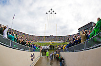 The Blue Angels perform the best flyover ever in the history of Notre Dame Stadium.