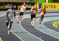 Photo: Richard Lane/Richard Lane Photography. Aviva World Trials & UK Championships. 13/02/2010. Men's 400m semi final.