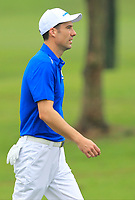 Ross Fisher (Europe) on the 1st fairway during the Friday Foursomes of the Eurasia Cup at Glenmarie Golf and Country Club on the 12th January 2018.<br /> Picture:  Thos Caffrey / www.golffile.ie