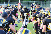 The Madison Mustangs top the Milwaukee Venon 53-0 in Ironman Football League competion on Saturday, 8/7/10, at Breitenbach Stadium in Middleton, Wisconsin