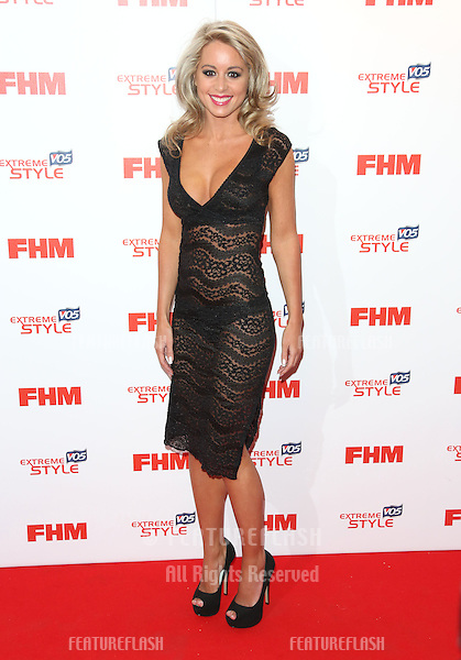 Carly Baker arriving for the FHM 100 Sexiest Women in the World 2013 party at the Sanderson Hotel, London. 01/05/2013 Picture by: Henry Harris / Featureflash