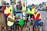 Killorglin Tidy Towns with their new water tank l-r: Mary McGillicuddy, Michael Fleming,Trudi O'Sullivan, James Daly, Sam and Chjristine Zerillo, Orna Eccles and Brendan foley Chairman