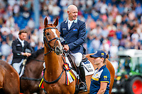 AUS-Andrew Hoy rides Vassily de Lassos during the SAP Cup - CICO4*-S Nations Cup Eventing Prizegiving. 2019 GER-CHIO Aachen Weltfest des Pferdesports. Saturday 20 July. Copyright Photo: Libby Law Photography