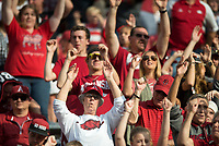 NWA Democrat-Gazette/CHARLIE KAIJO Arkansas Razorbacks fans cheer during a football game on Saturday, November 4, 2017 at Razorback Stadium in Fayetteville