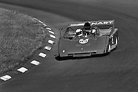 WATKINS GLEN, NY - JULY 14: Sam Posey drives the North American Racing Teams Ferrari 712M 1010 during practice for the SCCA Can-Am race at the Watkins Glen Grand Prix Race Course near Watkins Glen, New York, on July 14, 1974. (Photo by Bob Harmeyer)