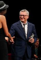 Cerimonia di consegna del premio Le Maschere del Teatro Italiano al Teatro San Carlo di Napoli , 5 Settembre 2014<br /> nella foto Maurizio Balo miglior scenografia