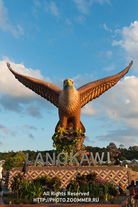 Eagle Statue In Eagle Square, Langkawi, Malaysia