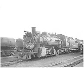 Engineer side view of D&amp;RGW #486 K-36 in Alamosa yard.<br /> D&amp;RGW  Alamosa, CO  Taken by Payne, Andy M. - 5/5/1954
