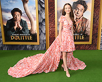 """11 January 2020 - Westwood, California - Carmel Laniado. Premiere Of Universal Pictures' """"Dolittle"""" held at the Regency Village Theatre. Photo Credit: Billy Bennight/AdMedia"""