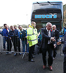 Ally McCoist first off the Rangers team bus
