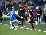 David Brooks of Sheffield Utd nutmegs Jack Hunt of Sheffield Wednesday during the Championship match at the Hillsborough Stadium, Sheffield. Picture date 24th September 2017. Picture credit should read: Simon Bellis/Sportimage