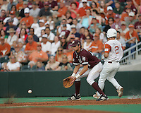 Texas 1B Luke Anders against Texas on May 16th, 2008 in Austin Texas. Photo by Andrew Woolley / Four Seam images.