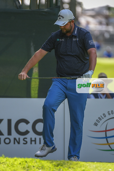 Marc Leishman (AUS) reacts to his tee shot on 7 during round 1 of the World Golf Championships, Mexico, Club De Golf Chapultepec, Mexico City, Mexico. 2/21/2019.<br /> Picture: Golffile | Ken Murray<br /> <br /> <br /> All photo usage must carry mandatory copyright credit (© Golffile | Ken Murray)
