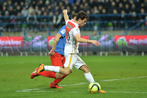 04.03.2016. Caen, France. French League 1 football. Caen versus Monaco.  BERNARDO SILVA (mon) shoots and scores his goal
