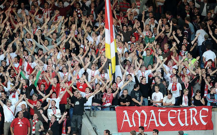 FUSSBALL  Regionalliga Sued   SAISON  2011/2012    8. Spieltag   04.10.2011 FC Bayern Muenchen II - TSV 1860 Muenchen II Bayern Fans