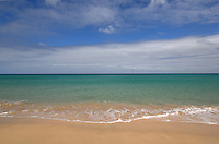 Atlantic ocean and deserted beach, Jandia ,Fuerteventura, Canary Islands,Spain.