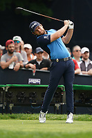 Tyrrell Hatton (ENG) on the 15th tee during the final round at the PGA Championship 2019, Beth Page Black, New York, USA. 20/05/2019.<br /> Picture Fran Caffrey / Golffile.ie<br /> <br /> All photo usage must carry mandatory copyright credit (© Golffile | Fran Caffrey)