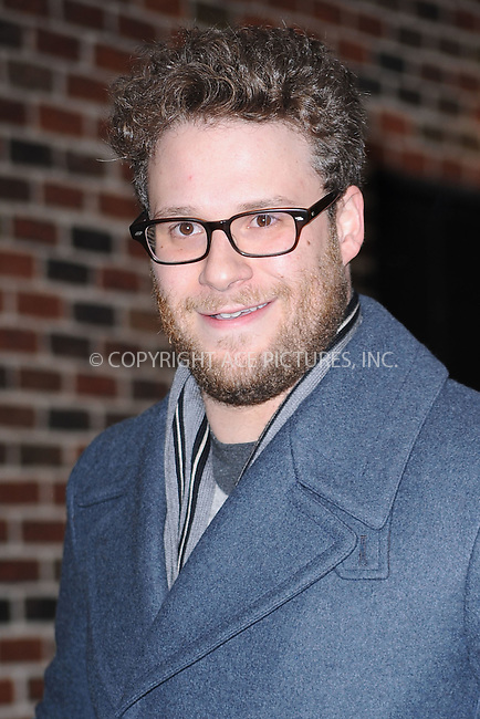WWW.ACEPIXS.COM . . . . . .January 6, 2011...New York City...Seth Rogen tapes the Late Show with David Letterman on January 6, 2011 in New York City....Please byline: KRISTIN CALLAHAN - ACEPIXS.COM.. . . . . . ..Ace Pictures, Inc: ..tel: (212) 243 8787 or (646) 769 0430..e-mail: info@acepixs.com..web: http://www.acepixs.com .