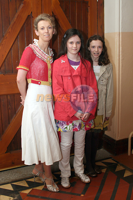 Elizabeth, Ann and Hannah McCloskey at the confirmation in Termonfeckin Church...Photo NEWSFILE/Jenny Matthews.(Photo credit should read Jenny Matthews/NEWSFILE)....This Picture has been sent you under the condtions enclosed by:.Newsfile Ltd..The Studio,.Millmount Abbey,.Drogheda,.Co Meath..Ireland..Tel: +353(0)41-9871240.Fax: +353(0)41-9871260.GSM: +353(0)86-2500958.email: pictures@newsfile.ie.www.newsfile.ie.FTP: 193.120.102.198.