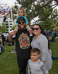 The Morgan family during the Riverfest in downtown Reno, Nevada on Sunday, May 13, 2018.