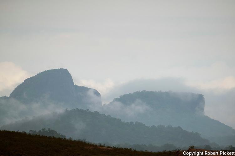 Lanscape with early morning sunrise, clouds, Senanayake Samudraya, Sri Lanka