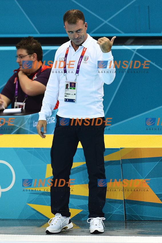 Fabio Conti Allenatore..London 1/8/2012 Water Polo Arena..London 2012 Olympic games - Olimpiadi Londra 2012..Italia Vs Russia..Water Polo - Pallanuoto..Foto Andrea Staccioli Insidefoto