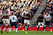 2nd February 2019, Wembley Stadium, London England; EPL Premier League football, Tottenham Hotspur versus Newcastle United; Jose Salomon Rondon of Newcastle United battles for the ball with Toby Alderweireld of Tottenham Hotspur