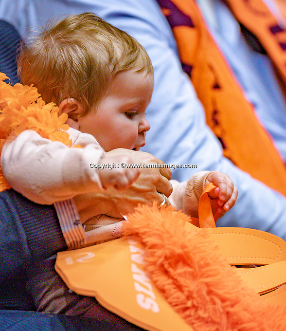 Den Bosch, The Netherlands, Februari 9, 2019,  Maaspoort , FedCup  Netherlands - Canada, First round match : Dutch supporter<br /> <br /> Photo: Tennisimages/Henk Koster