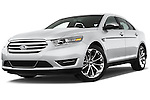 Low aggressive front three quarter view of a 2013 Ford Taurus LTD