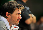 8 June 2008: San Francisco Giants' pitcher Barry Zito rests in the dugout after his start against the Washington Nationals at Nationals Park in Washington, DC. The Giants rallied to defeat the Nationals 6-3 in their third consecutive win of the 4-game series...Mandatory Photo Credit: Ed Wolfstein Photo