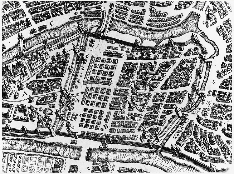 MOSCOW: KITAI-GOROD MAP. /nPlan of the Kitai-Gorod district in Moscow, Russia, 17th century.