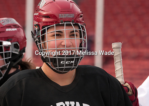 Briana Mastel (Harvard - 17) - The Harvard University Crimson practiced at Fenway on Monday, January 9, 2017, in Boston, Massachusetts.