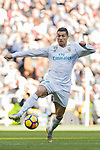 Cristiano Ronaldo of Real Madrid in action during the La Liga 2017-18 match between Real Madrid and FC Barcelona at Santiago Bernabeu Stadium on December 23 2017 in Madrid, Spain. Photo by Diego Gonzalez / Power Sport Images
