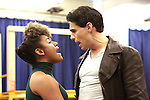 """Ariana Debose and Bobby Conte Thornton during the open press rehearsal for """"A Bronx Tale - The New Musical""""  at the New 42nd Street Studios on October 21, 2016 in New York City."""