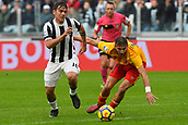 5th November 2017, Allianz Stadium, Turin, Italy; Serie A football, Juventus versus Benevento; Paulo Dybala gets past his defender of Benevento